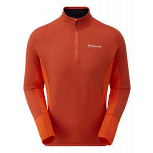 Montane Men's Iridium Hybrid Pull On: Firefly Orange-Fleeces-Likeys
