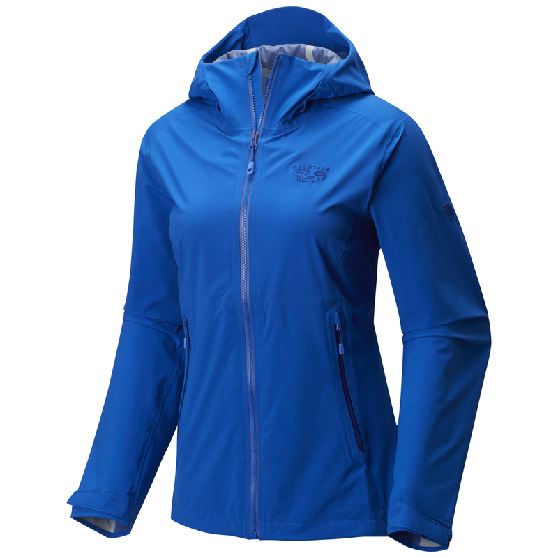 Mountain Hardwear Women's Stretch Ozonic Jacket: Bright Blue-Jackets-Likeys