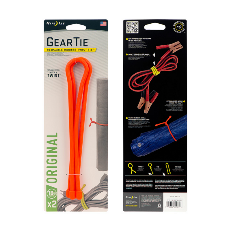 NiteIze Reusable Gear Tie 2 Pack: Orange-Equipment-One Size-Likeys