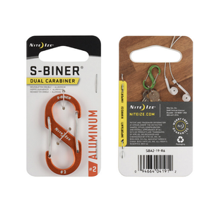 NiteIze S-Biner Dual Aluminium Caribiner: Orange-Equipment-One Size-Likeys