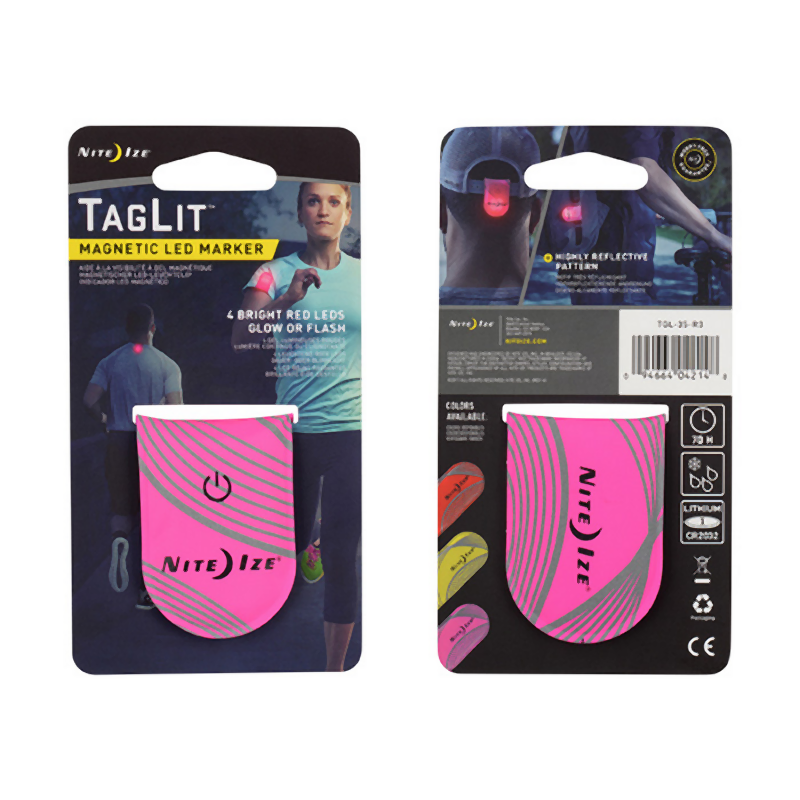 NiteIze Taglit Magnetic LED Marker: Pink-Equipment-One Size-Likeys
