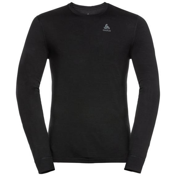 Odlo Men's 100% Merino Crew Neck Warm l/s Top-Baselayers-Likeys