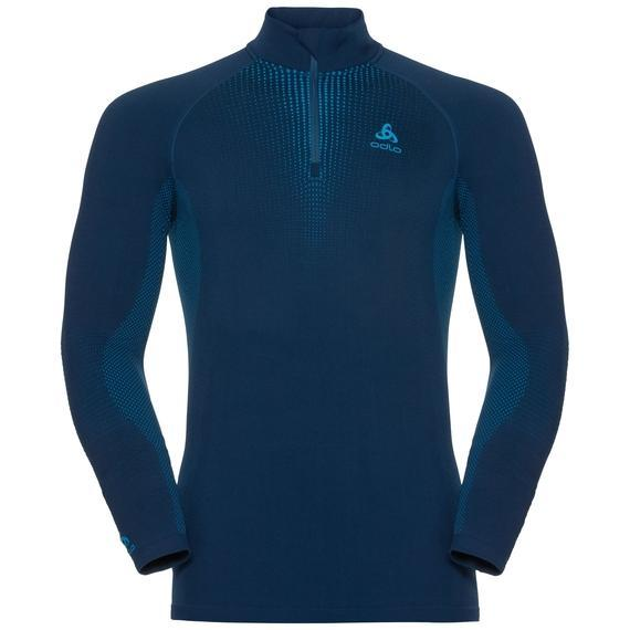 Odlo Men's SUW Top Turtle neck 1/2 zip l/s PERFORMANCE Warm