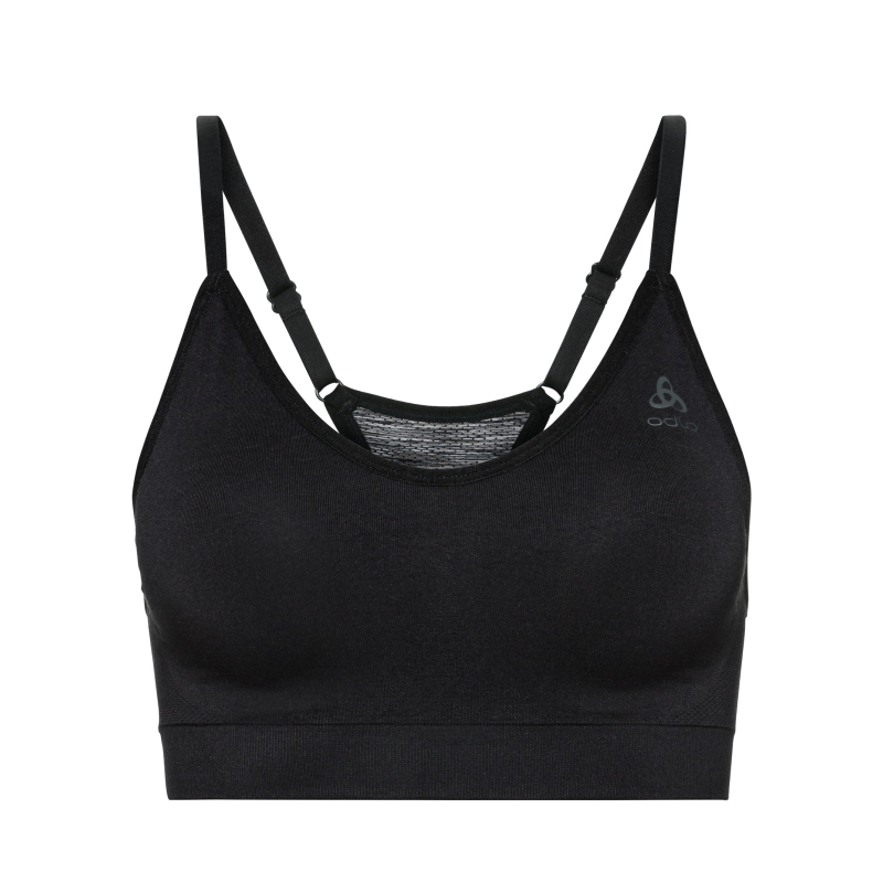 Odlo Sports Bra Seamless Soft Support Padding: Black-Underwear-Likeys