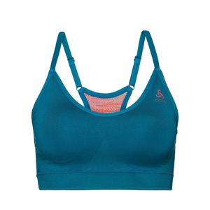 Odlo Sports Bra Seamless Soft Support Padding: Crystal Teal-Underwear-Likeys