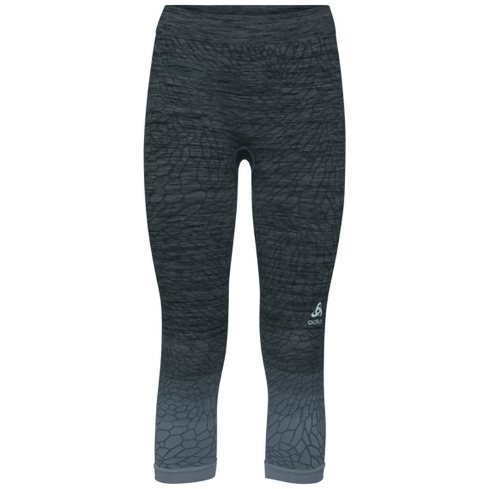 Odlo Women's BL MAIA 3/4 Leggings: Odlo Steel Grey/Black