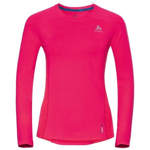 Odlo Women's BL Top Crew neck l/s CERAMICOOL pro-Baselayers-Likeys