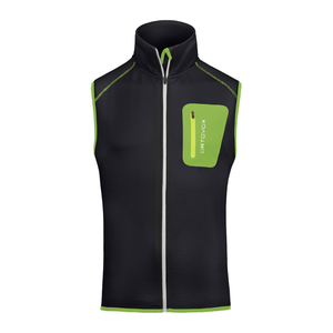 Ortovox Men's Fleece Vest: Black Raven-Gilets-Likeys