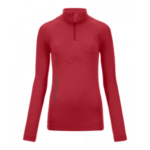 Ortovox Women's 230 Competition Zip Neck: Hot Coral-Baselayers-Likeys