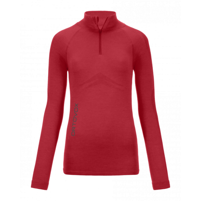 Ortovox Women's 230 Competition Zip Neck: Hot Coral
