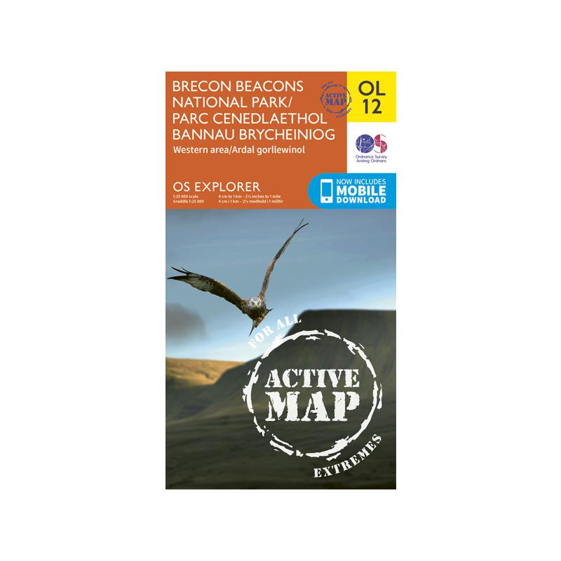 OS Explorer Laminated Brecon Beacons OL13: Eastern Area-Maps & Books-One Size-Likeys