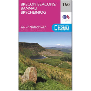 OS Landranger Brecon Beacons - 160-Maps & Books-One Size-Likeys