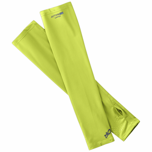 Outdoor Research Activelce Sun Sleeves: Lemongrass-Clothing Accessories-Likeys