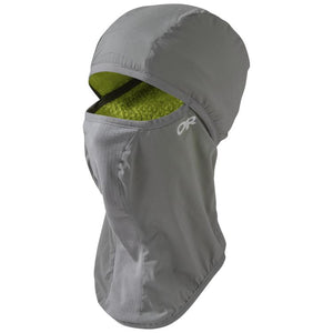 Outdoor Research Ascendant Balaclava: Pewter/Lemongrass-Headwear-L/XL-Likeys