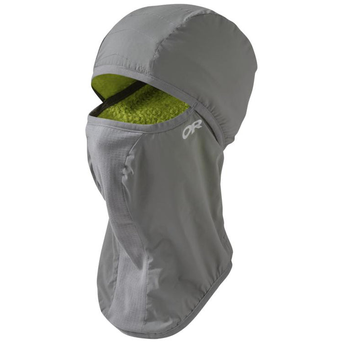 Outdoor Research Ascendant Balaclava: Pewter/Lemongrass