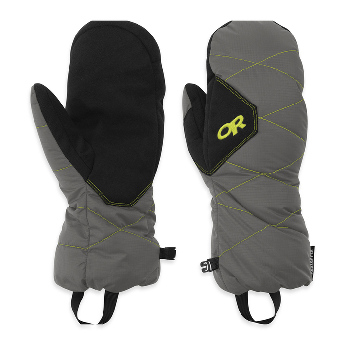 Outdoor Research Men's Phosphor Mitts: Pewter