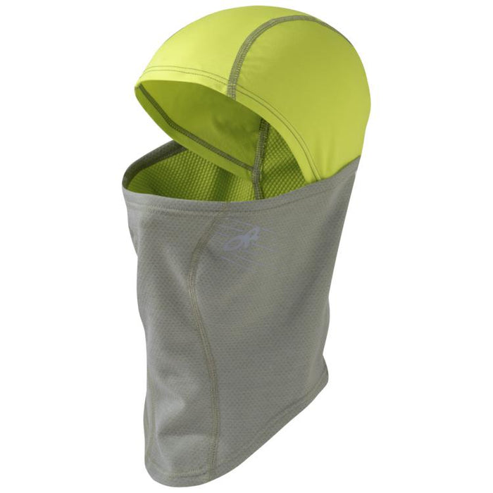 Outdoor Research Shiftup Balaclava: Pewter/Lemongrass