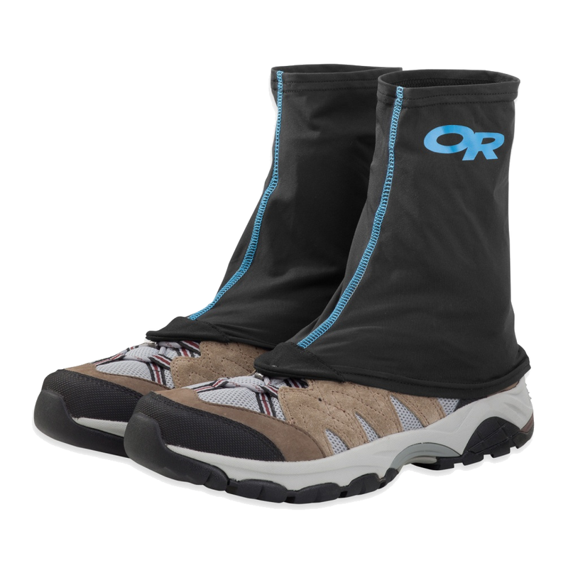 Outdoor Research Sparkplug Gaiter: Black-Footwear Accessories-Likeys