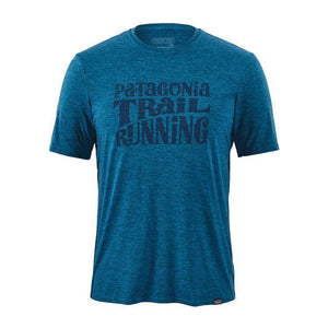 Patagonia Men Cap Daily Graphic T-Shirt: Balkan Blue-Tees-Likeys
