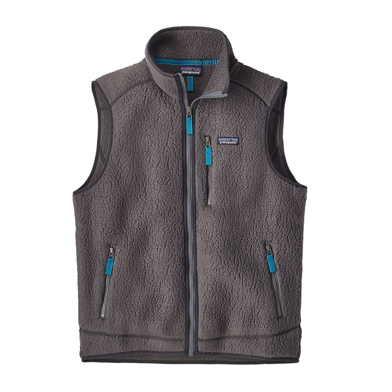 Patagonia Men Retro Pile Vest: Forge Grey-Fleeces-Likeys