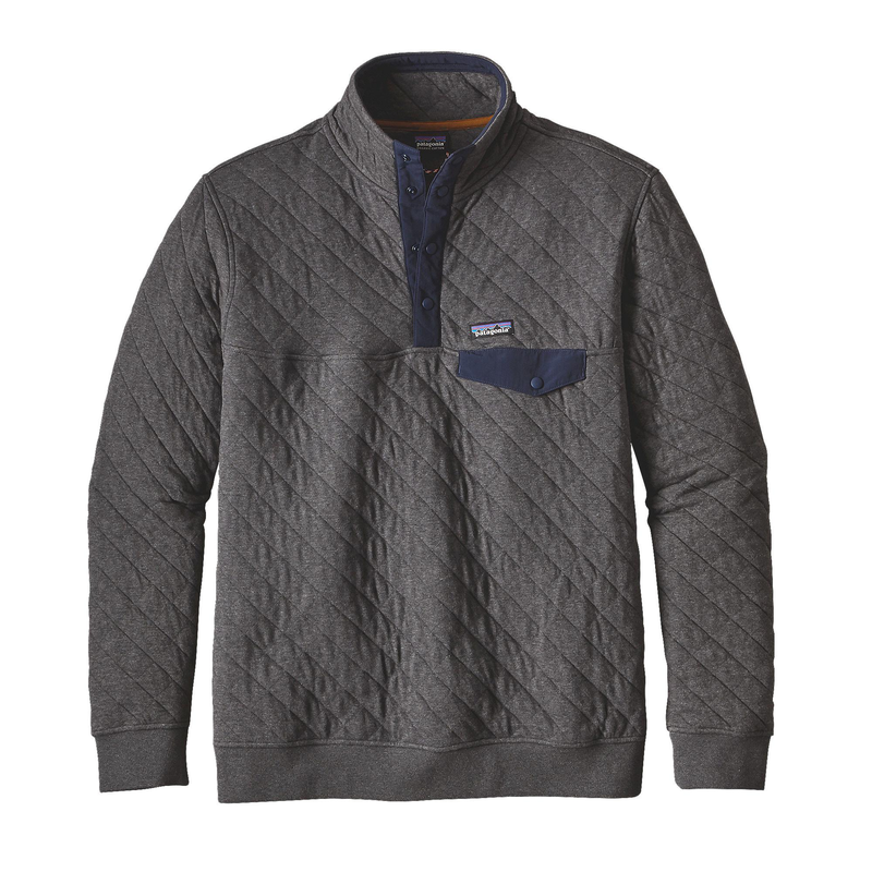 Patagonia Men's Cotton Quilt Snap-T Pullover: Grey-Fleeces-Likeys