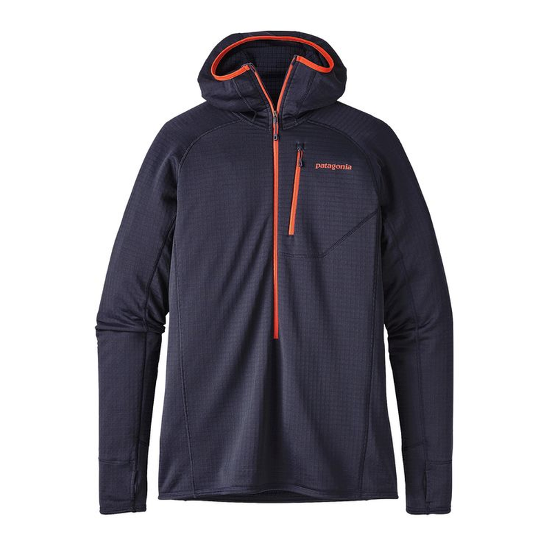 Patagonia Men's R1 Hoody: Navy Blue-Fleeces-Likeys