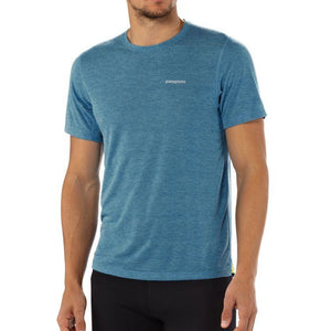 Patagonia Men's SS Nine Trails Shirt: Feather Grey-Tees-Likeys