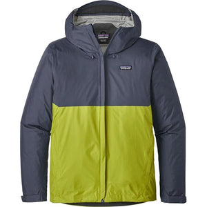 Patagonia Men's Torrentshell Jacket: Dolomite Blue/Gecko Green-Jackets-Likeys