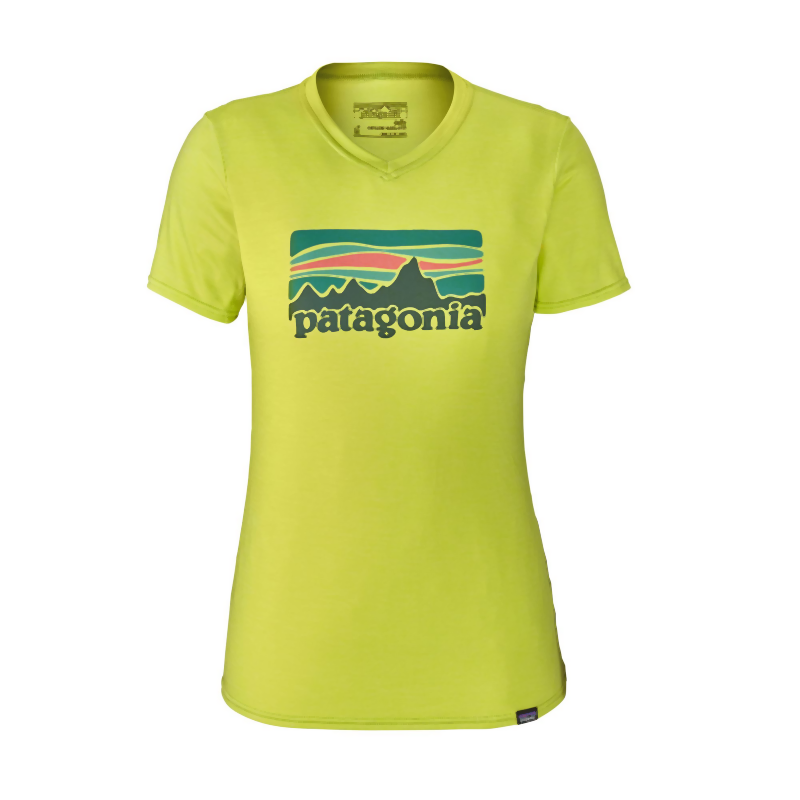 Patagonia Women's Cap Daily Graphic T-shirt: Celery Green-Tees-Likeys