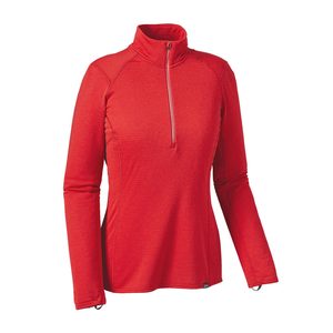 Patagonia Women's Capilene Thermal Weight Zip Neck: French Red-Baselayers-Likeys