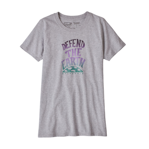 Patagonia Women's Defend the Earth Responsibili-T: Drifter Grey-Tees-Likeys
