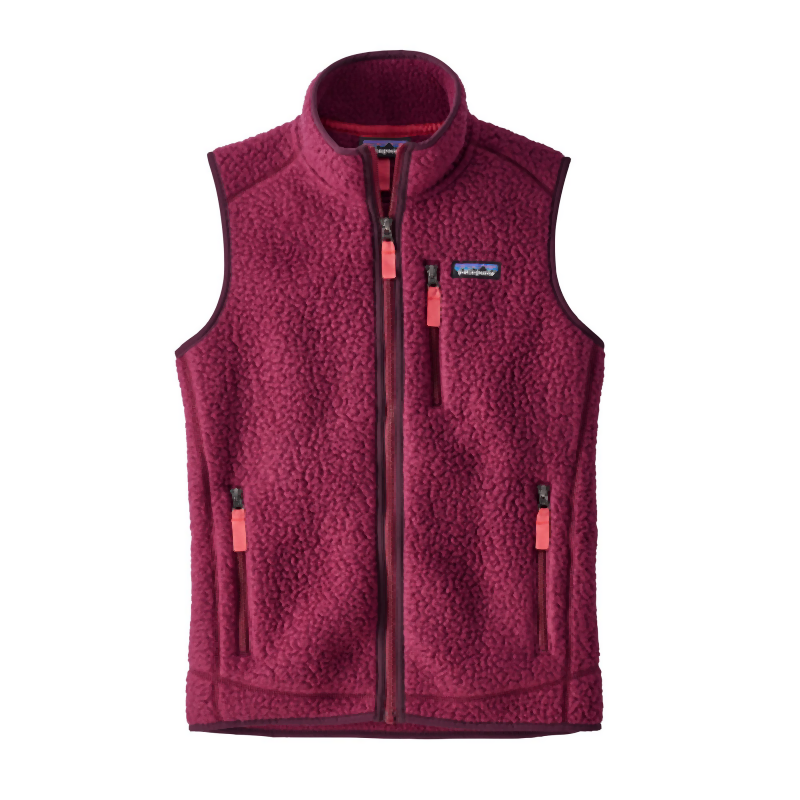 Patagonia Women's Retro Pile Vest: Arrow Red-Gilets-Likeys