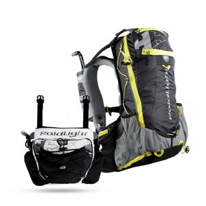 Raidlight Ultra Olmo 20L + 4L Front Pack: Black/Yellow-Backpacks & Bags-One Size-Likeys