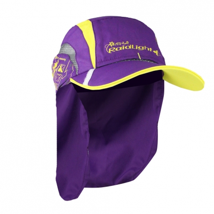 Raidlight Women's Sahara Cap: Purple/Yellow