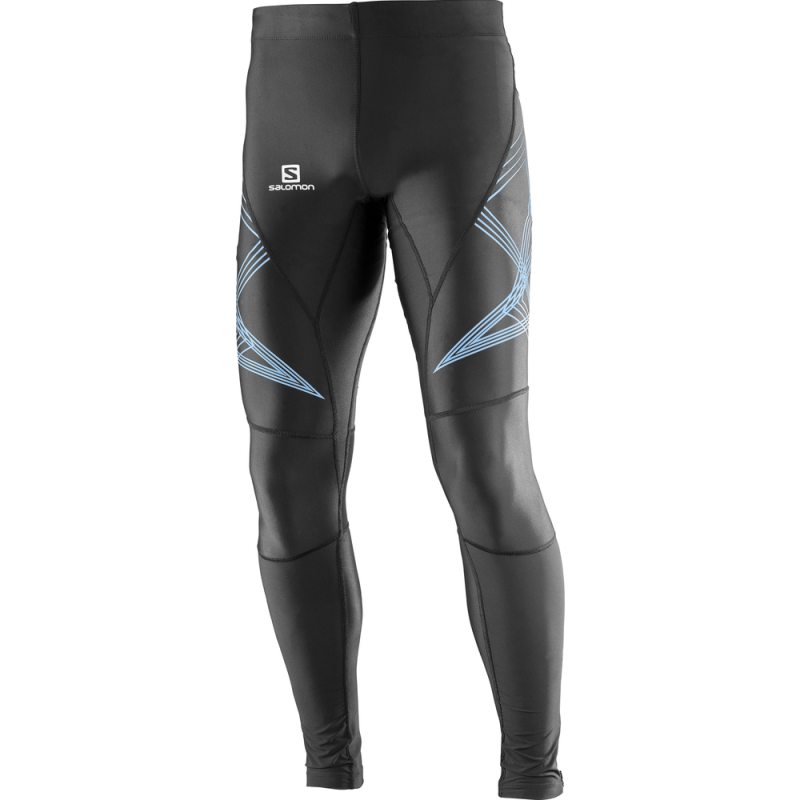 Salomon Men Intensity Long Tight: Black/Hawaiian-Leggings-Likeys