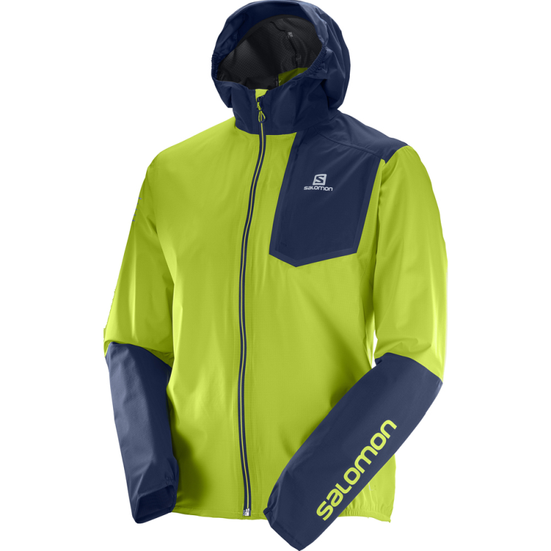 Salomon Men's Bonatti Pro WP Jacket: Acid Lime-Jackets-Likeys