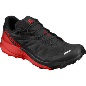 Salomon S-LAB Sense Ultra: Black/Red-Trail Running Shoes-Likeys