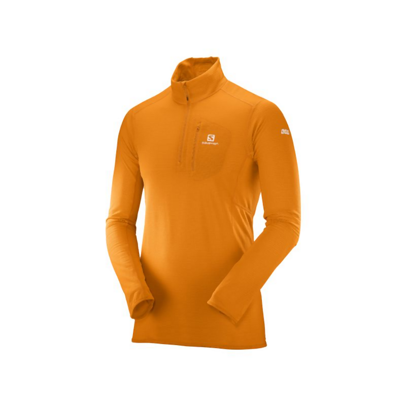 Salomon S/Lab X Alp HZ Mid: Bright Marigold-Baselayers-Likeys
