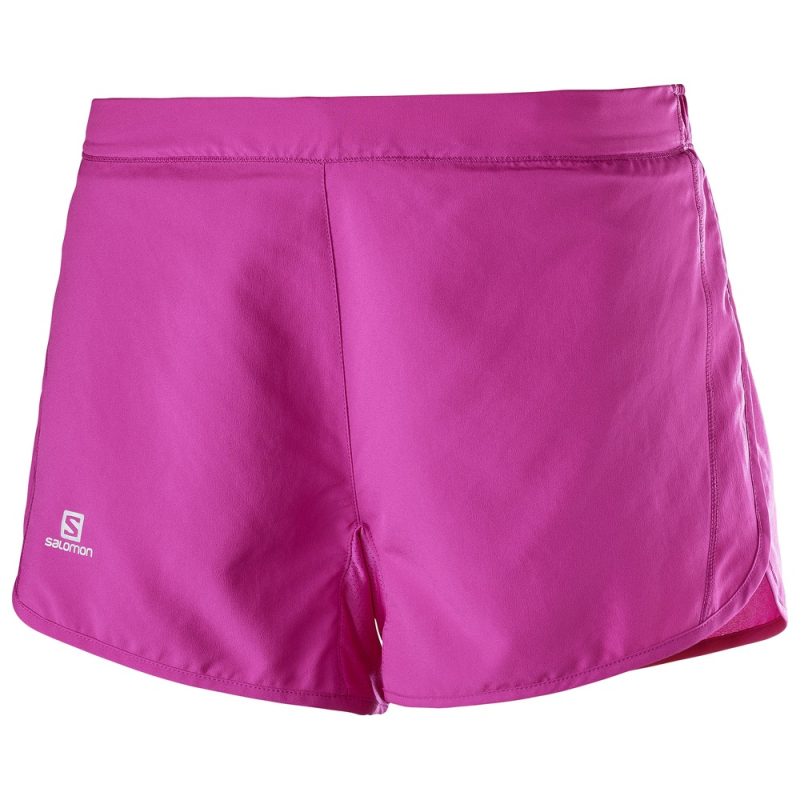 Salomon Women's Agile Short: Rose Violet-Shorts-Likeys