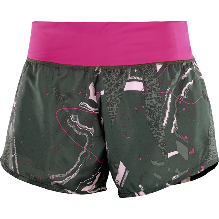 Salomon Women's Elevate 2in1 Short: Urban Chic/Pink Yarro