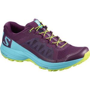 Salomon Women's XA Elevate: Dark Purple/Blue Curacao-Trail Running Shoes-Likeys