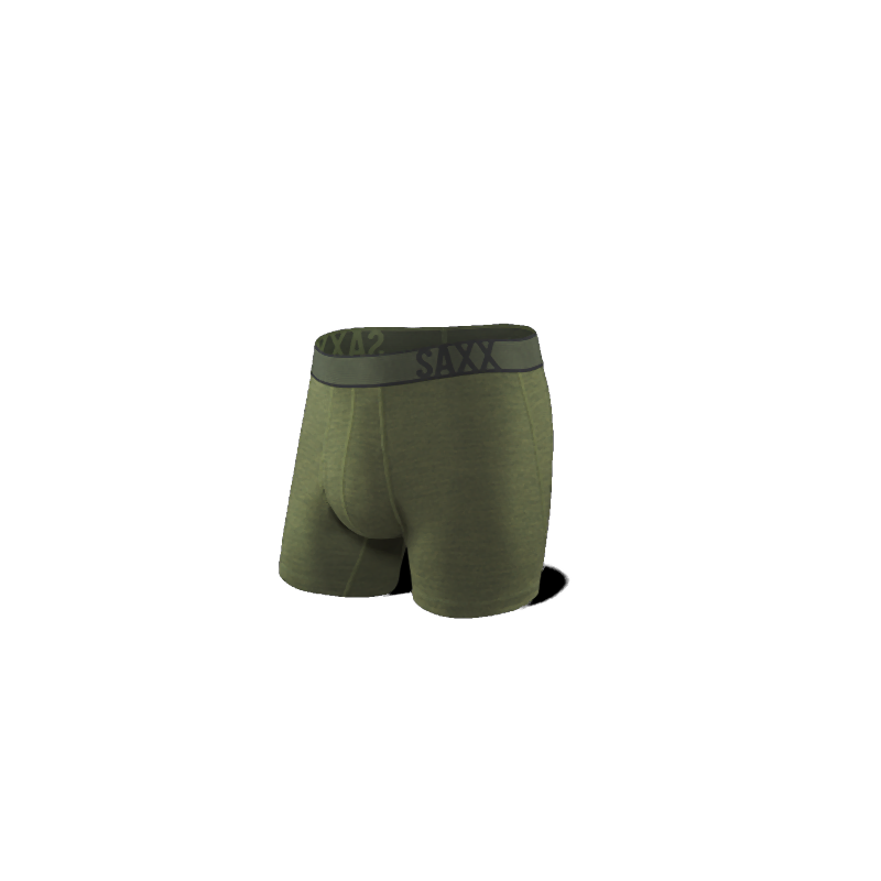 SAXX Blacksheep Boxer Brief with Fly: Olive/Heather-Underwear-Likeys