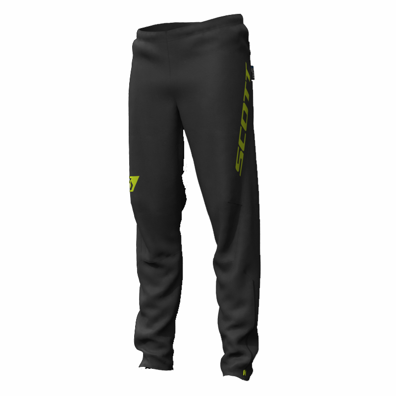 Scott Men's RC Run Waterproof Pant: Black/Yellow-Trousers-Likeys