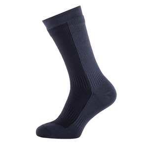 SealSkinz Hiking Mid Mid Sock: Black/Anthracite-Socks-Likeys