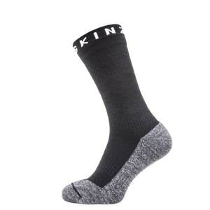 Sealskinz Soft Touch Mid Length Sock: Black/Grey/White-Socks-Likeys