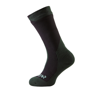 SealSkinz Trekking Thick Mid: Black/Racing Green-Socks-Likeys