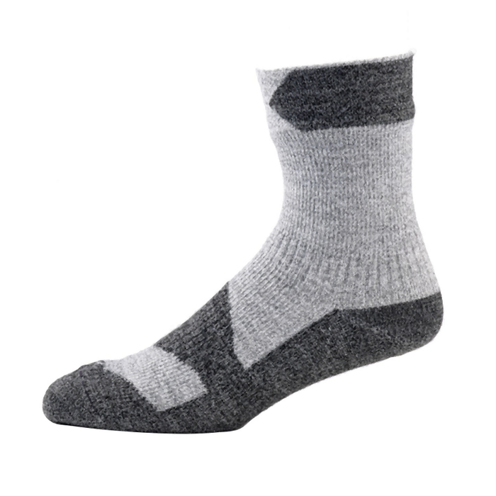 Sealskinz Walking Thin Ankle Length Sock: Grey Marl/Dark Grey