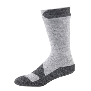 Sealskinz Walking Thin Mid Length Sock: Grey Marl/Dark Grey-Socks-Likeys