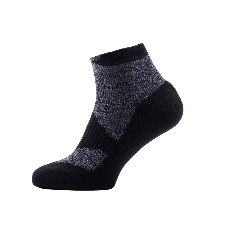 SealSkinz Walking Thin Socklet: Dark Grey/Black-Socks-Likeys
