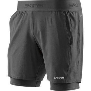 Skins DNAmic Men's Primary Superpose 1/2 Tights: Black-Shorts-Likeys